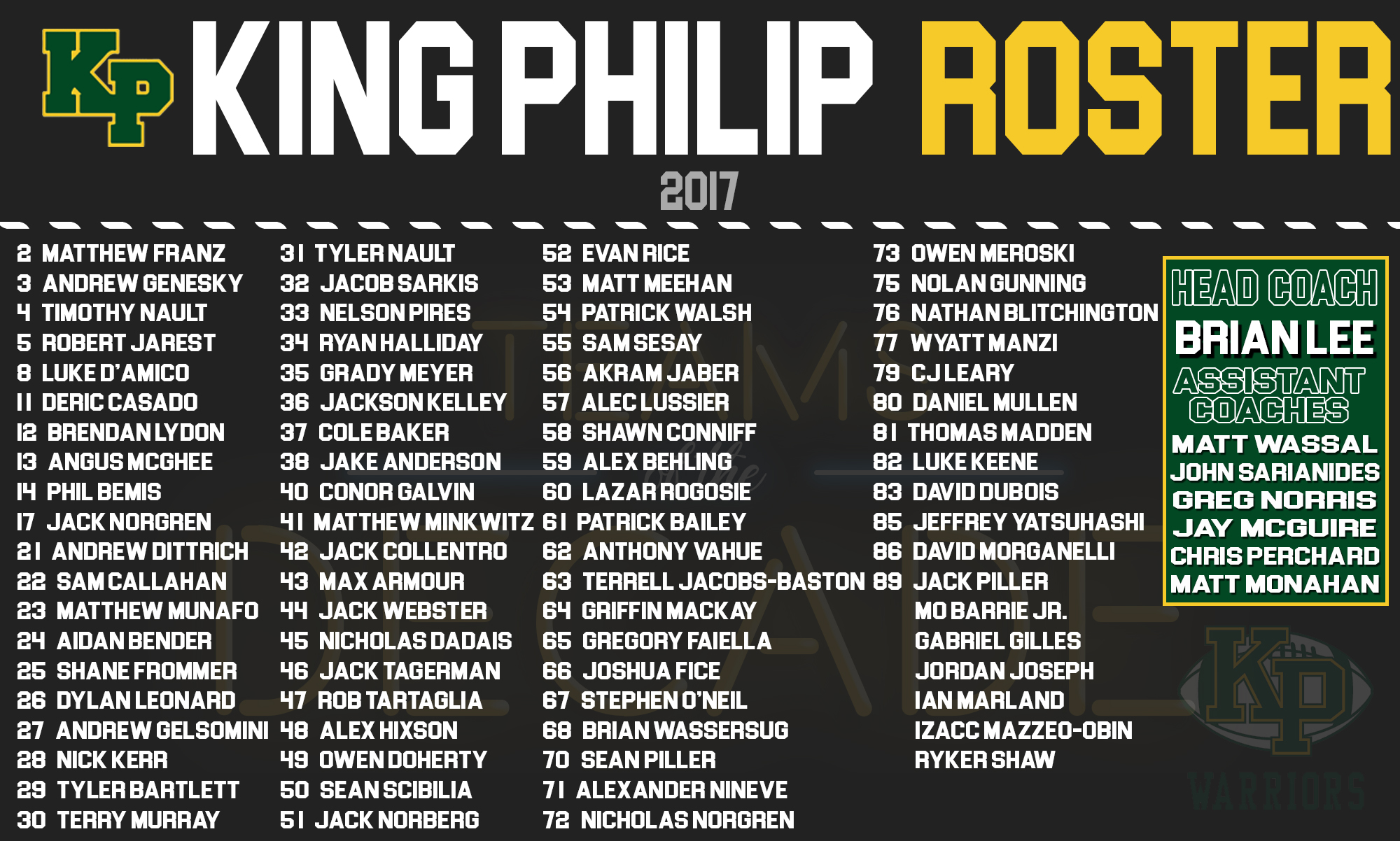 King Philip football