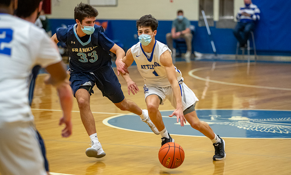 Attleboro boys basketball Evan Houle