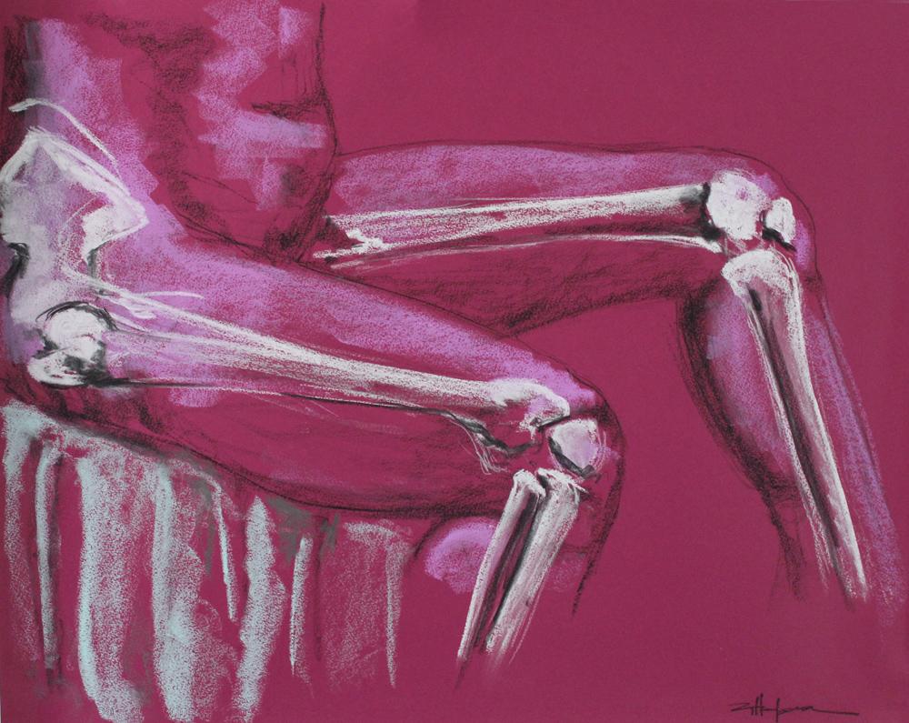 "Original Art , Bone study - Pastel ""JUST the LEGS"" by Marcy Ann Villafaña"