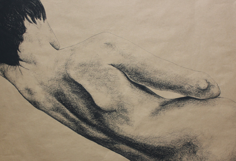 "Original Art, Nude Art Female - Charcoal - Graphite drawing ""I'm Not Yours"" by Marcy Ann Villafaña"