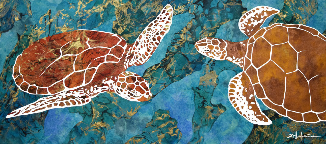 """DANCING TURTLES OF THE DEEP"""