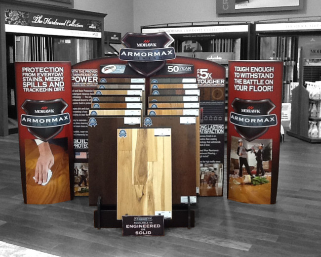 15 Slot Hardwood Display