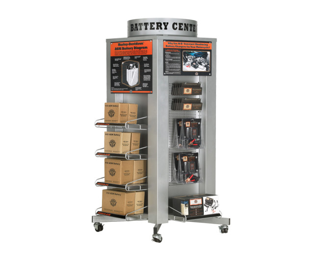 Battery Tower Display – Motorcycle Battery and Accessories
