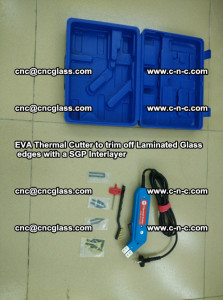 EVA Thermal Cutter to trim off Laminated Glass edges with a SGP Interlayer (50)