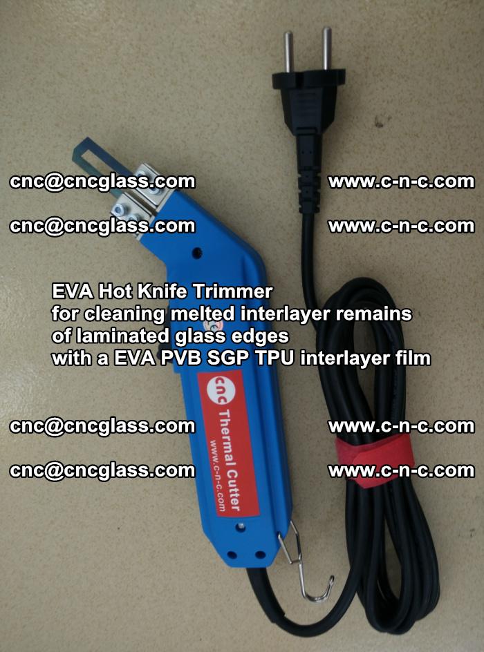 EVA HOT KNIFE TRIMMER cleaning PVB SGP EVA interlayer film overflowed remains outof laminated glass edges (45)
