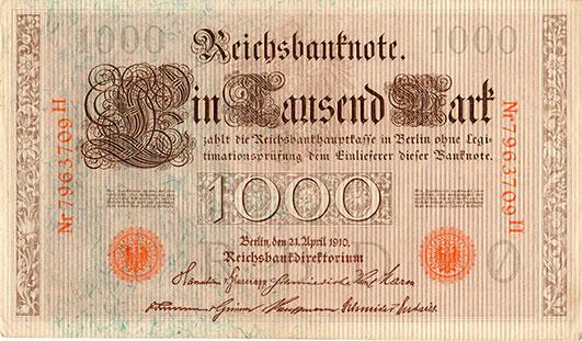 1000 Mark Bill