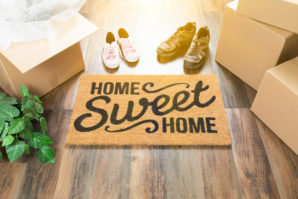 home sweet home, moving boxes, jl real estate, hardwood floors, welcome home