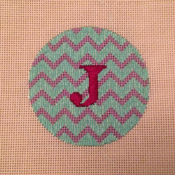First Finish of the new year! Kate Dickerson Needlepoint Round