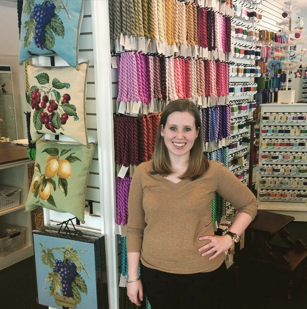 Behind the scenes at Kirk and Bradley- needlepoint.com