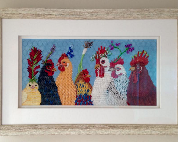 Framed Party in the Coop
