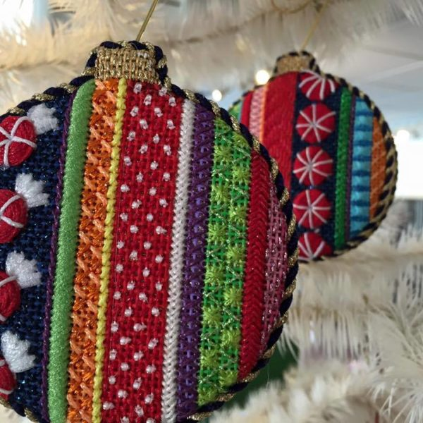 AT Candy Stripe Ornaments
