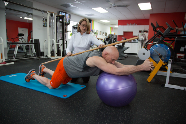 One of our trainers performing corrective exercise and post-rehabilitation program