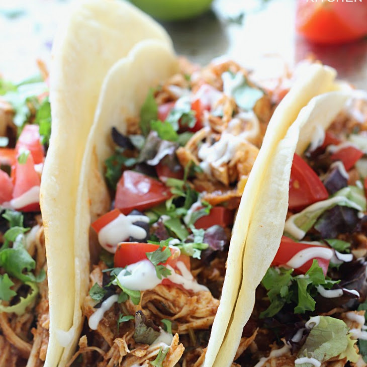 Slow Cooker Cilantro Lime Chicken Tacos
