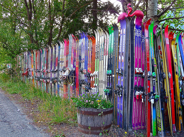 5 ways to recycle skis 5