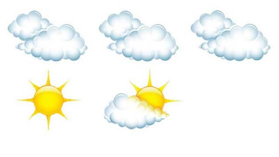 Full Sun, Partly Cloudy, Overcast