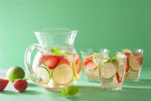 Summer Recipe - Strawberry, Lime, Mint, Cucumber Water