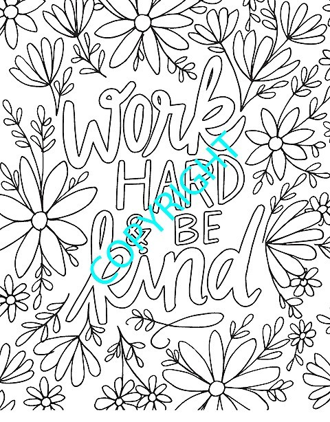 kindness adult coloring book