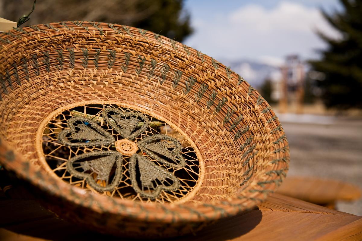 Pine Needle Basket Bowl