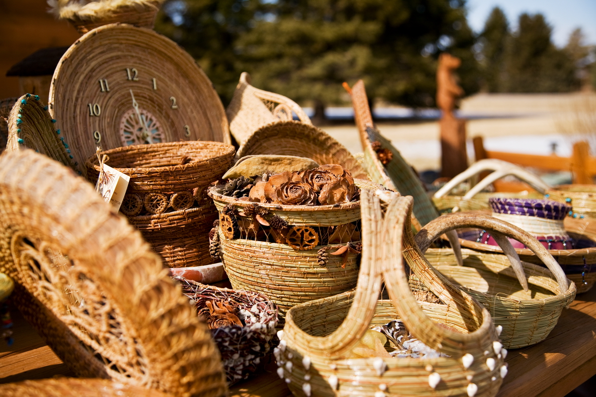Pine Needle Baskets For Sale