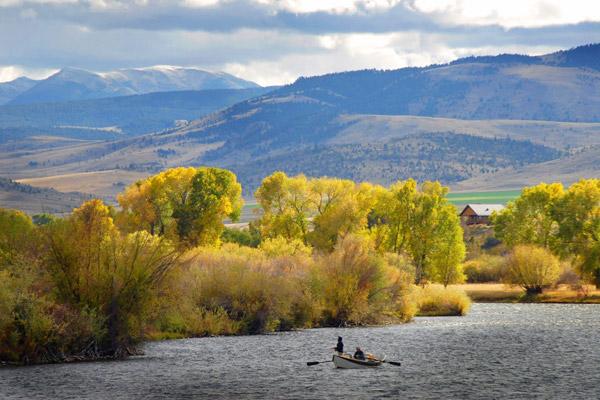 Autumn on the Madison River - Rainbow Valley Lodge, Montana