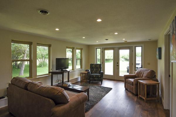 Living Room at Bear Creek Cottage