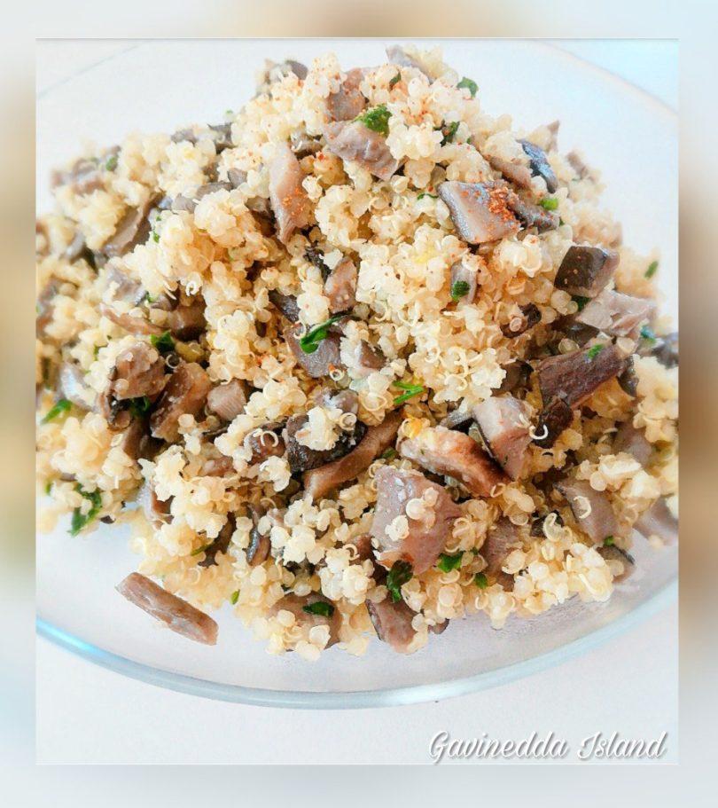 Quinoa con funghi