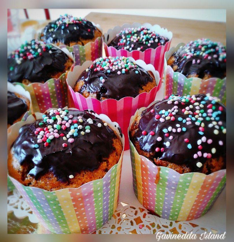 Muffin integrali arancia e cioccolato fondente