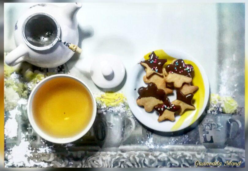 Biscottini arancia, cannella e cioccolato fondente