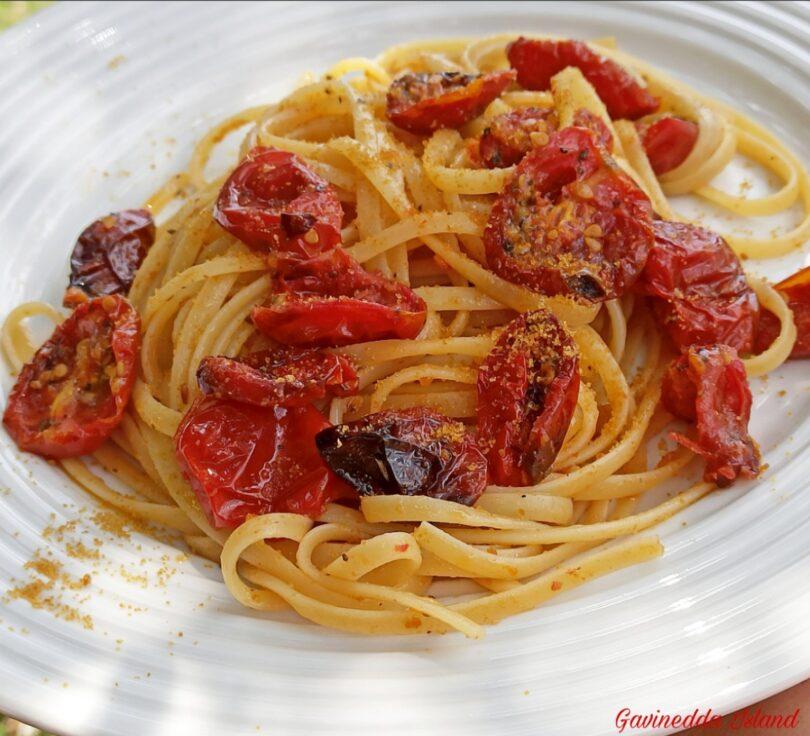 Spaghetti pomodorini confit e bottarga