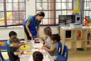 toddlers in classroom
