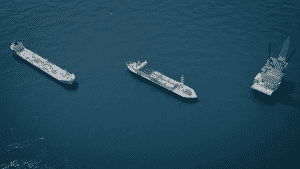 Cargo Ships Aerial 360