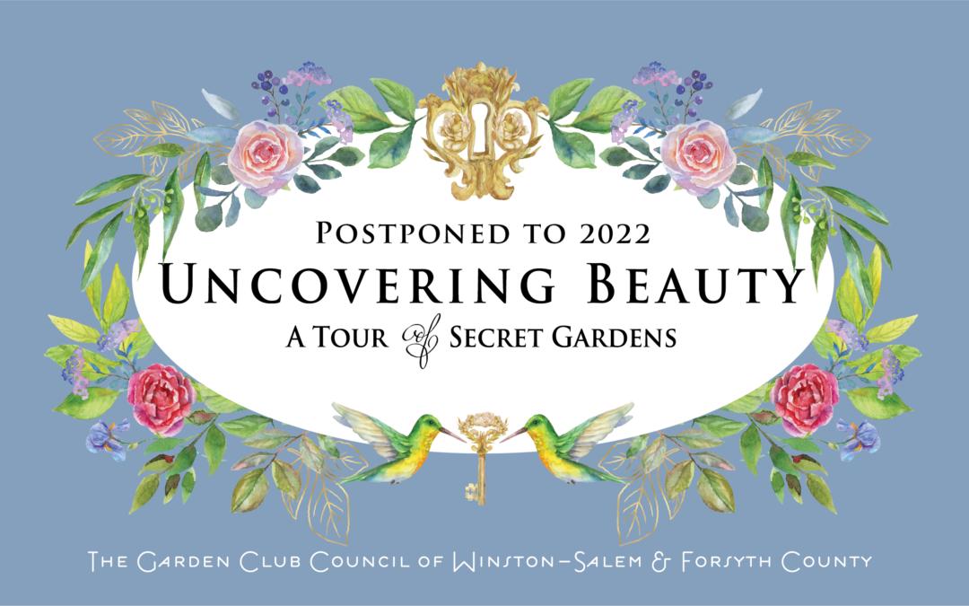 Garden Tour Postponed