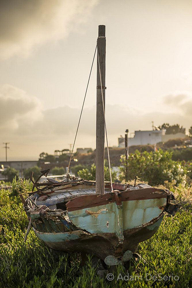 Boat On The Shore, Santorini
