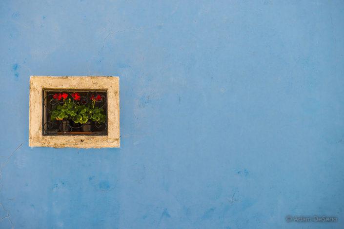 Burano Blue Window