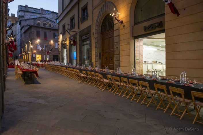 Dinner In The Street, Palio, Siena, Italy