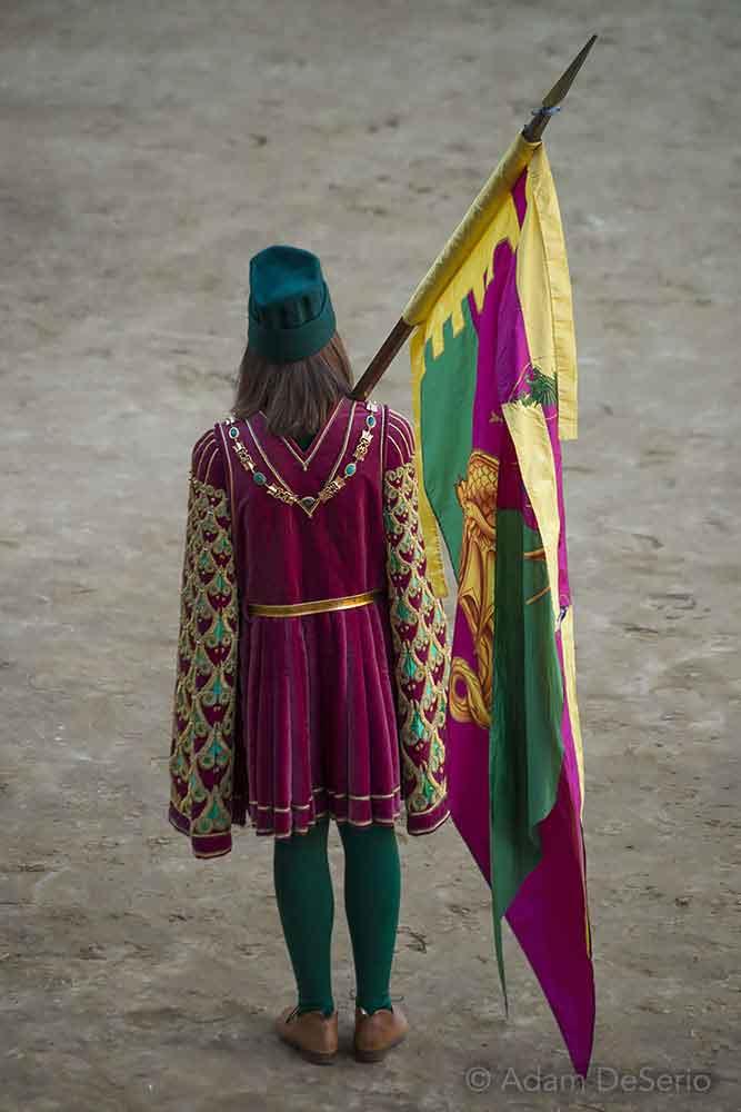 Drago Man, Palio, Siena, Italy