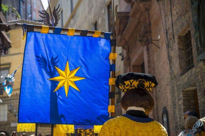Eagle Flag, Palio, Siena, Italy