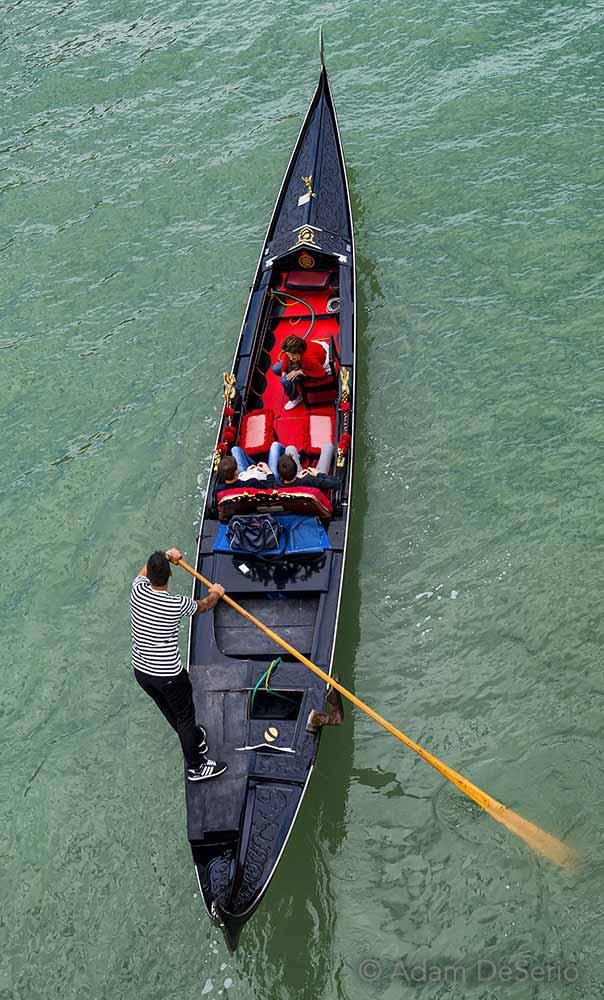 Gondola Above Bridge, Venice