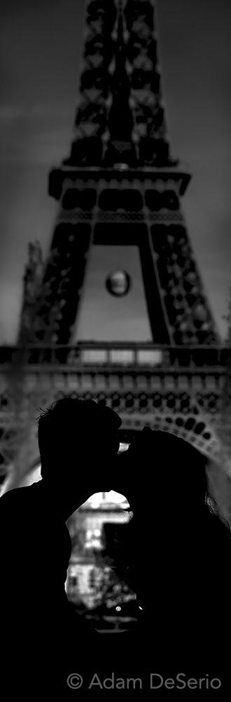 Kissing At The Eiffel Tower, Paris