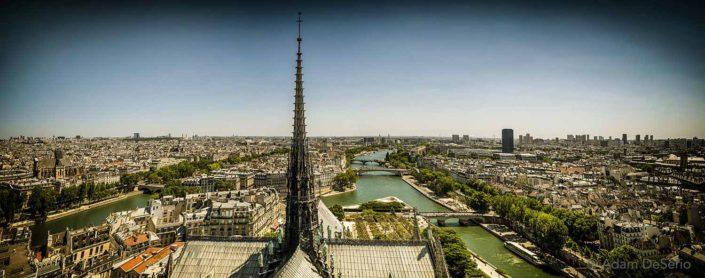 On Top of Notre Dame, Paris