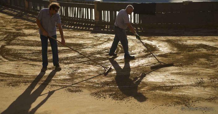 Raking The Dirt, Palio, Siena, Italy