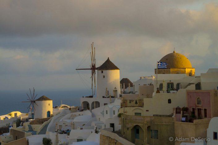 Santorini Sunrise Windmills