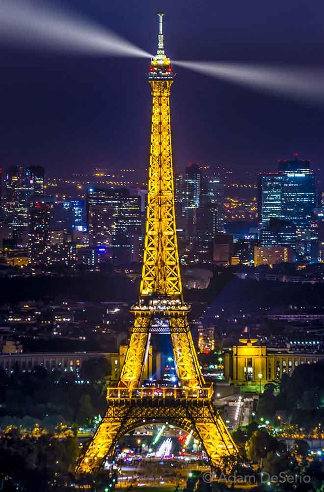 The Eiffel Tower At Night, Paris