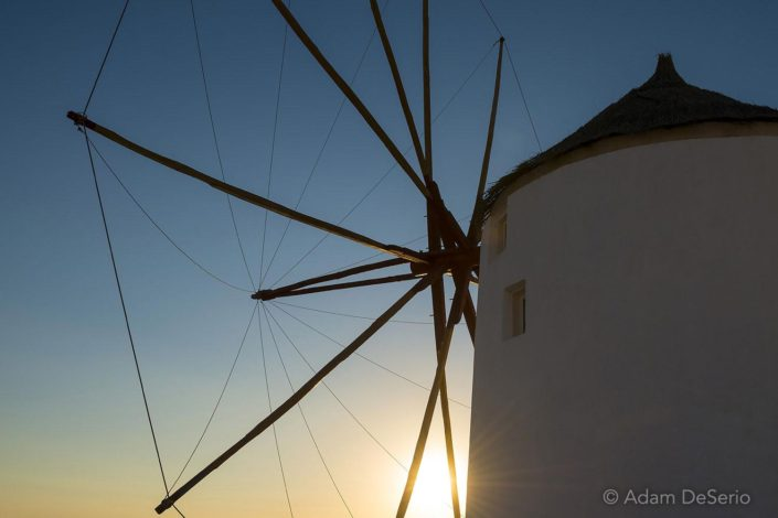 Windmill Sunset Wide, Santorini