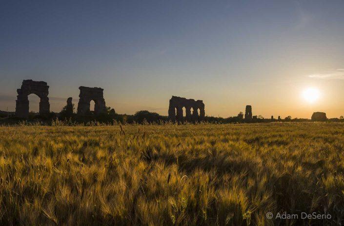 Aqueduct Sunset