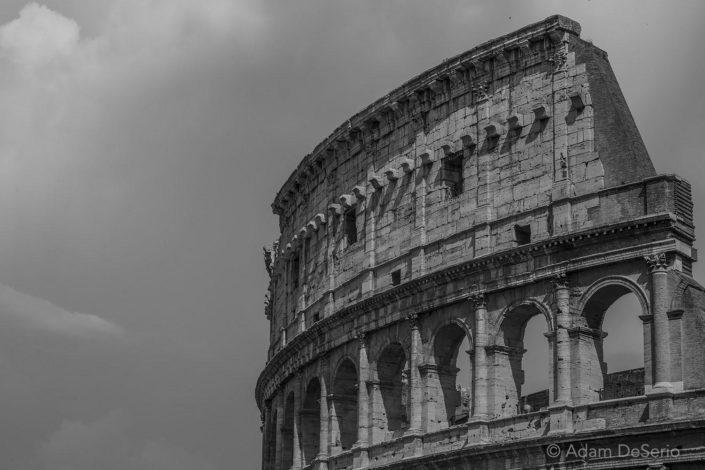 Colosseum Black And White, Rome, Italy