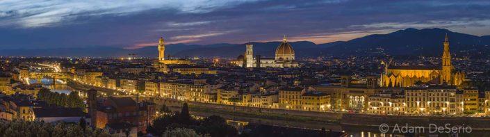 Florence City Line After Dark