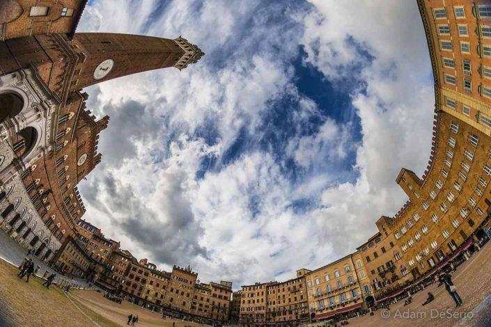 Siena Square Fisheye, Italy
