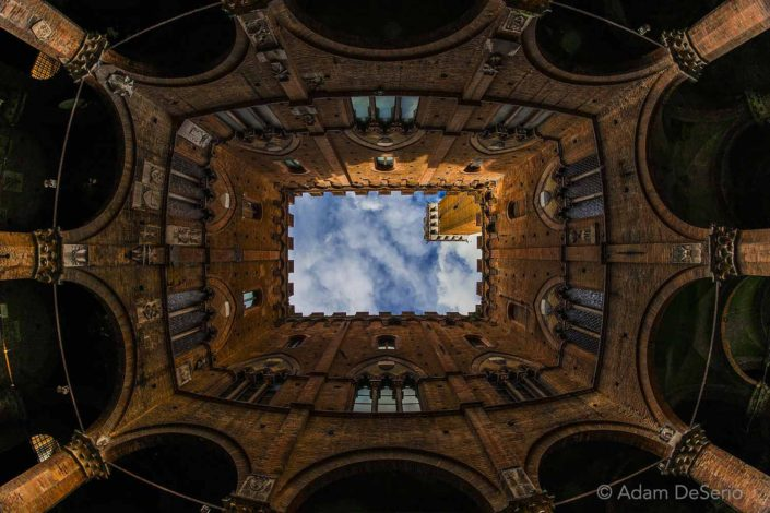 Siena Tower From Below, Italy