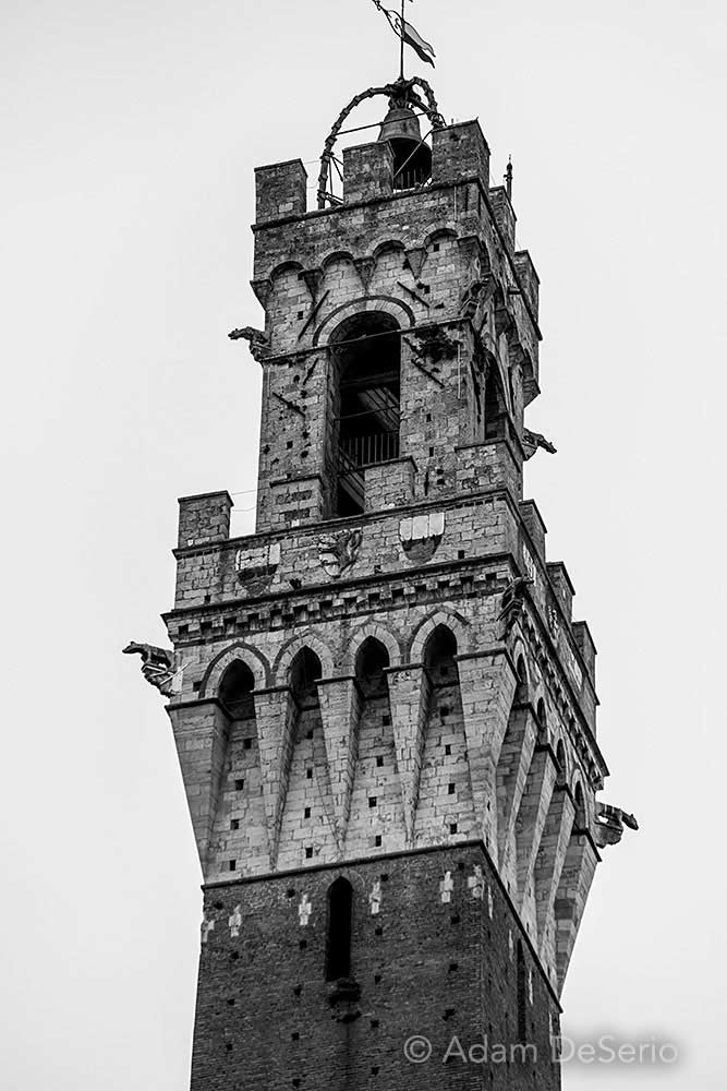The Tower Black and White, Italy